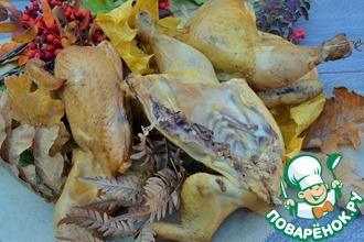 Рецепт: Копчёная курица на ольхе