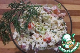 Рецепт: Салат из савойской капусты Краковский