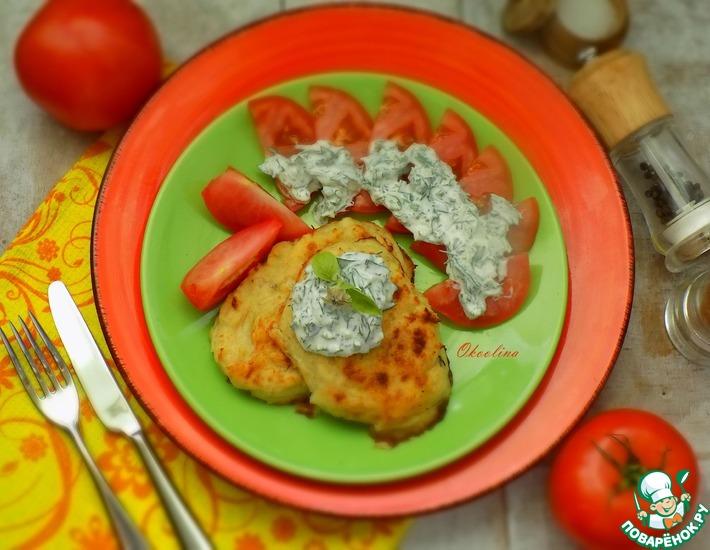 Рецепт: Запечённые курино-картофельные котлеты