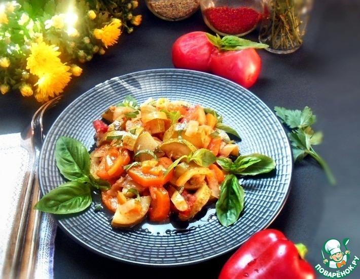 Рецепт: Овощи пряные