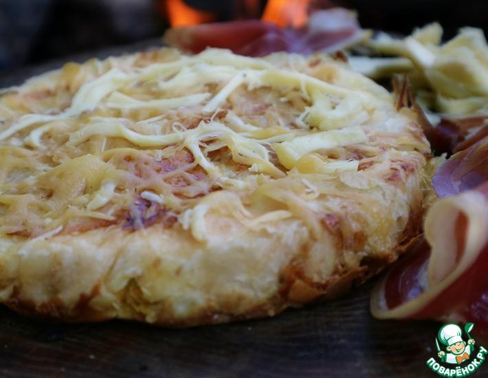 Рецепт: Лепешка из лаваша