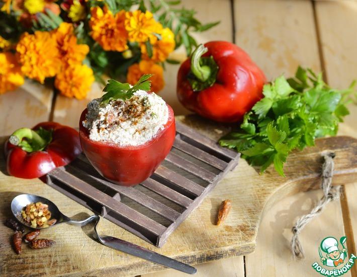 Рецепт: Перец, фаршированный творогом Пикантный