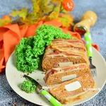 Мясной хлеб с тыквой и брынзой