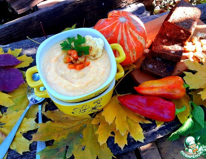 Рецепт: Сырный крем-суп с цветной капустой