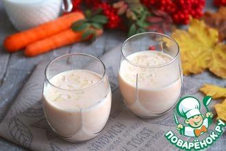 Рецепт: Напиток молочно-морковный с миндалем