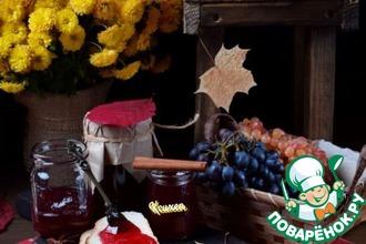 Рецепт: Пряное желе из винограда Изабелла