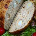 Курица, фаршированная блинами – кулинарный рецепт