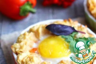 Рецепт: Запеканка с яйцом и болгарским перцем