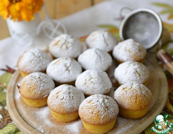 Рецепт: Маффины из тыквы с грецкими орехами