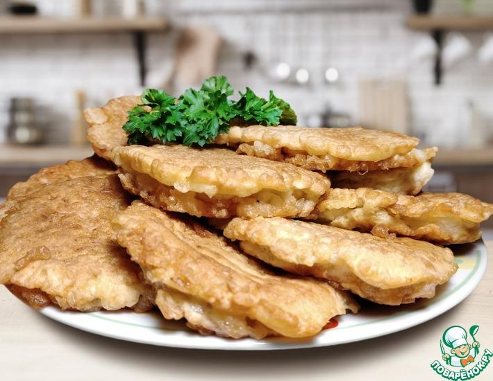Рецепт: Котлета в вафлях с плавленым сырком