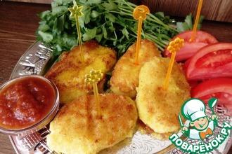 Рецепт: Котлеты картофельно-сырные