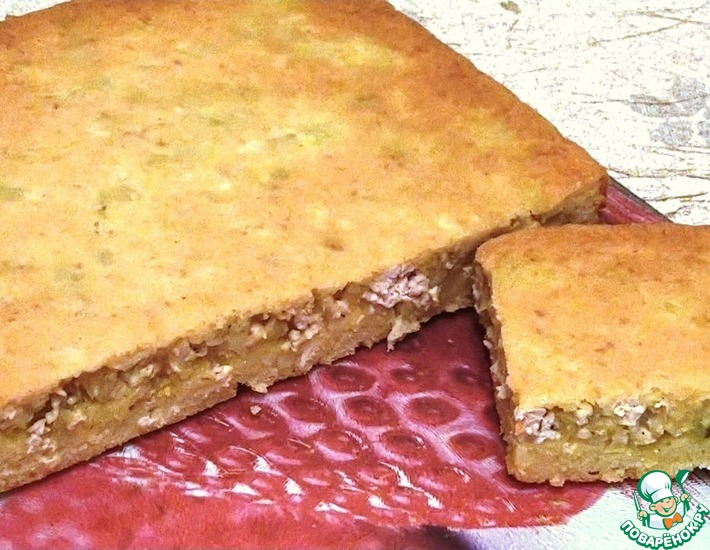 Рецепт: Пирог с индейкой и кабачком
