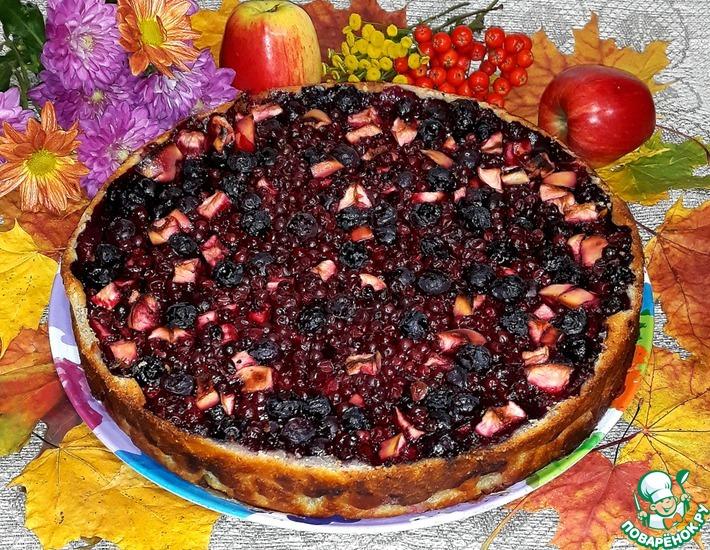 Рецепт: Открытый ягодный пирог