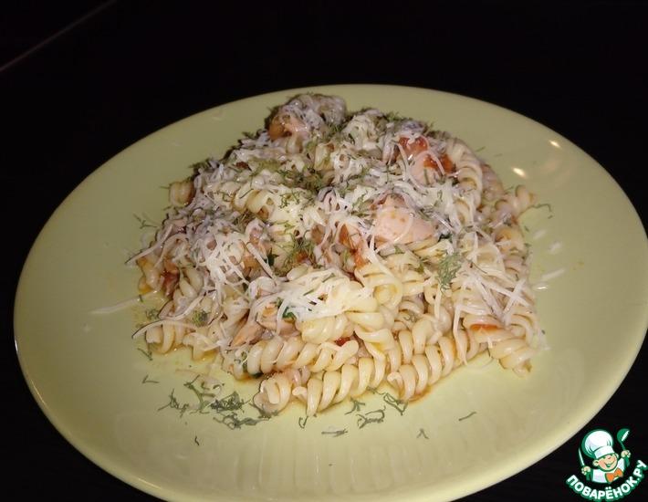 Рецепт: Супер быстрый ужин Паста с тунцом