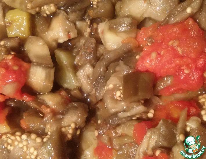 Баклажаны, помидоры и перец впрок