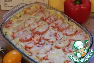Рецепт: Запеканка овощная с индейкой и макаронами