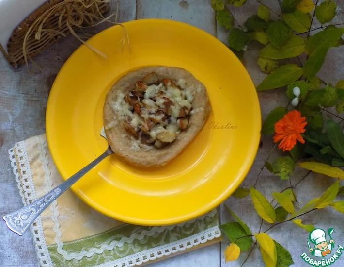 Рецепт: Картофельные лепёшки с белыми грибами