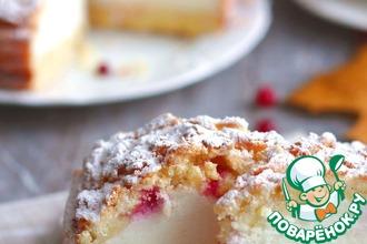 Рецепт: Нежный пирог на сметане и йогурте