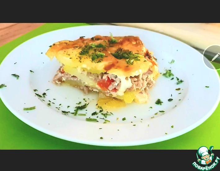 Рецепт: Запечённые кабачки с мясом