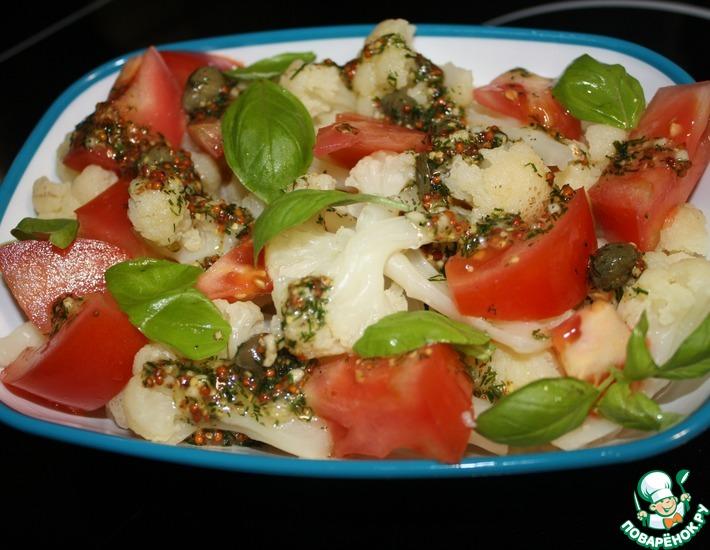 Пряный салат из цветной капусты