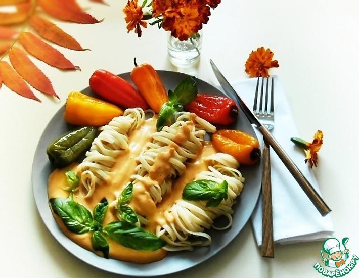 Рецепт: Макароны в шафрановом соусе