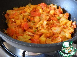 Дадим постоять под крышкой тушеным овощам минут 10.