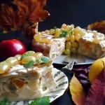 Пирог фруктовый Осенний хоровод