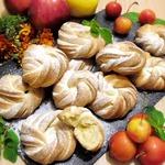 Булочки песочные с яблоками