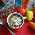 Минестроне с сезонными овощами и беконом