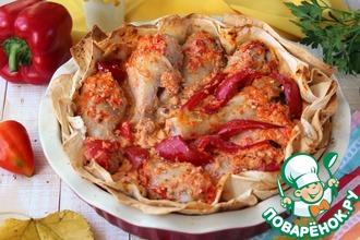 Рецепт: Курица по-армянски в лаваше