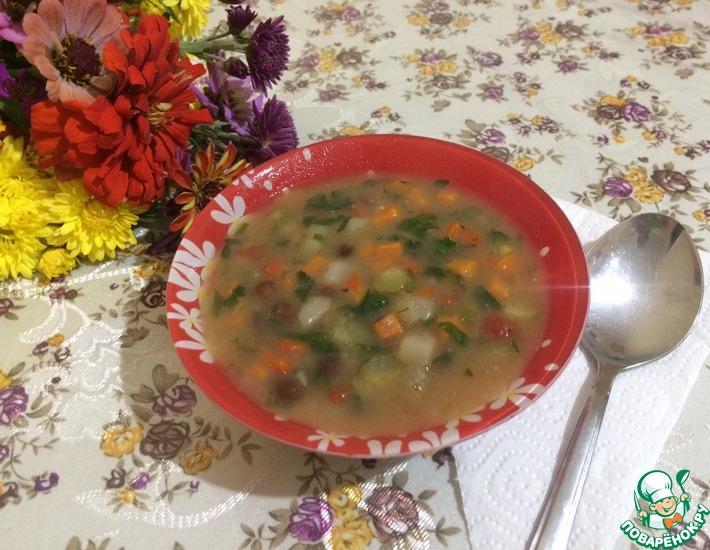 Рецепт: Фасолевый суп по-кабардински