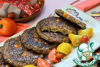 Рецепт: Печеночные оладьи с овощами