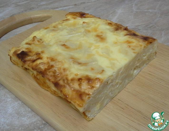 Рецепт: Быстрый пирог из лаваша с сыром