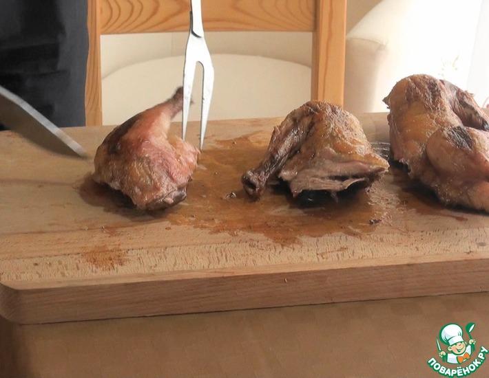 Рецепт: Утка гриль с лимонным маслом