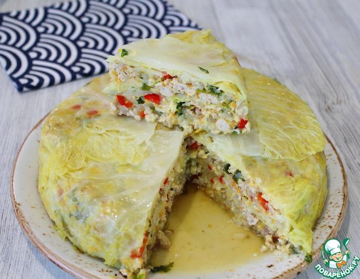 Рецепт: Необычный пирог из капусты