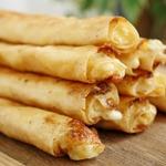 Трубочки с творогом и сыром
