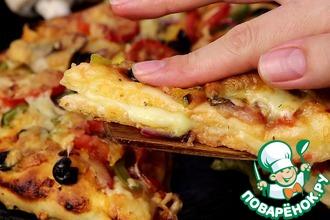 Рецепт: Необычная пицца