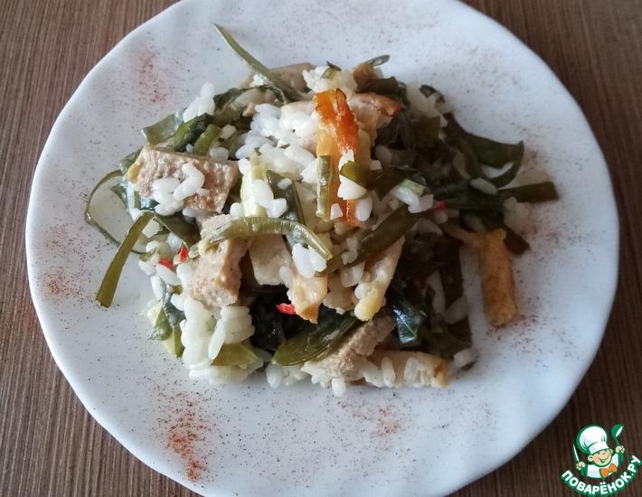 Рецепт: Салат морской по японским мотивам