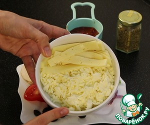 As for cheese I use mozzarella and regular cheese.