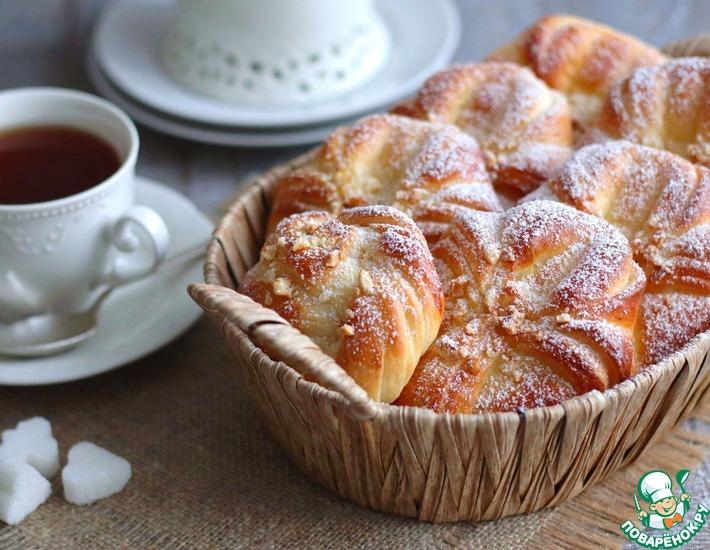 Рецепт: Домашние булочки с орехами