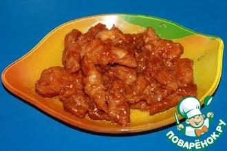 Рецепт: Курица в кисло-сладком соусе