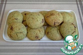 Рецепт: Мятное печенье с шоколадом