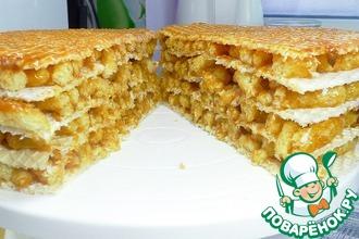 Рецепт: Торт без выпечки без печенья