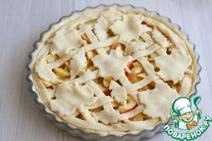 Бездрожжевой яблочный пирог Сметана