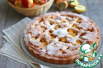 Рецепт: Бездрожжевой яблочный пирог