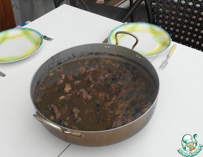 Рецепт: Свиная шейка в грибном соусе
