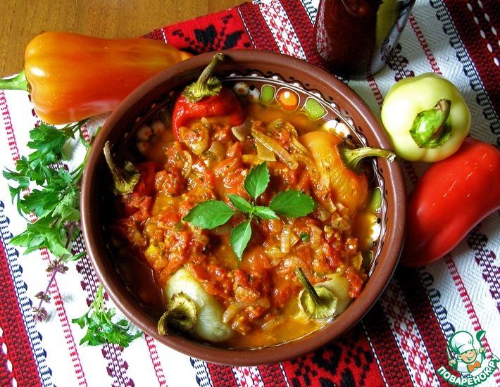 Рецепт: Болгарский перец в подливе