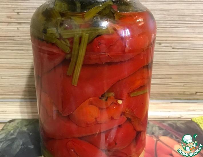 Рецепт: Красный маринованный перец по-кавказски