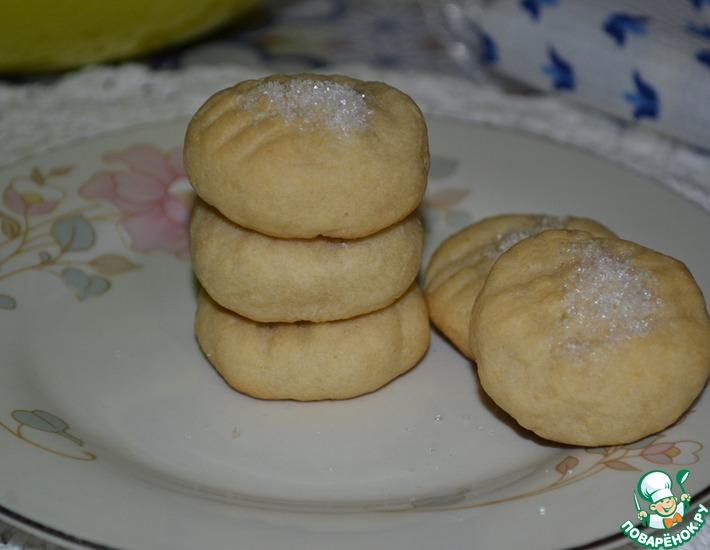 Рецепт: Творожное печенье Ванильное яблочко