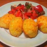 Картофель с сыром и хлебной крошкой